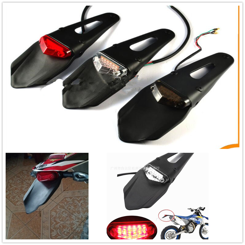 New Motorcycle  Pitbike Fender Mudguard  Brake Stop Rear Tail Light Lamp For YAMAHA YZ80 85 YZ125 250 YZ250F YZ426F 450F YZ250X