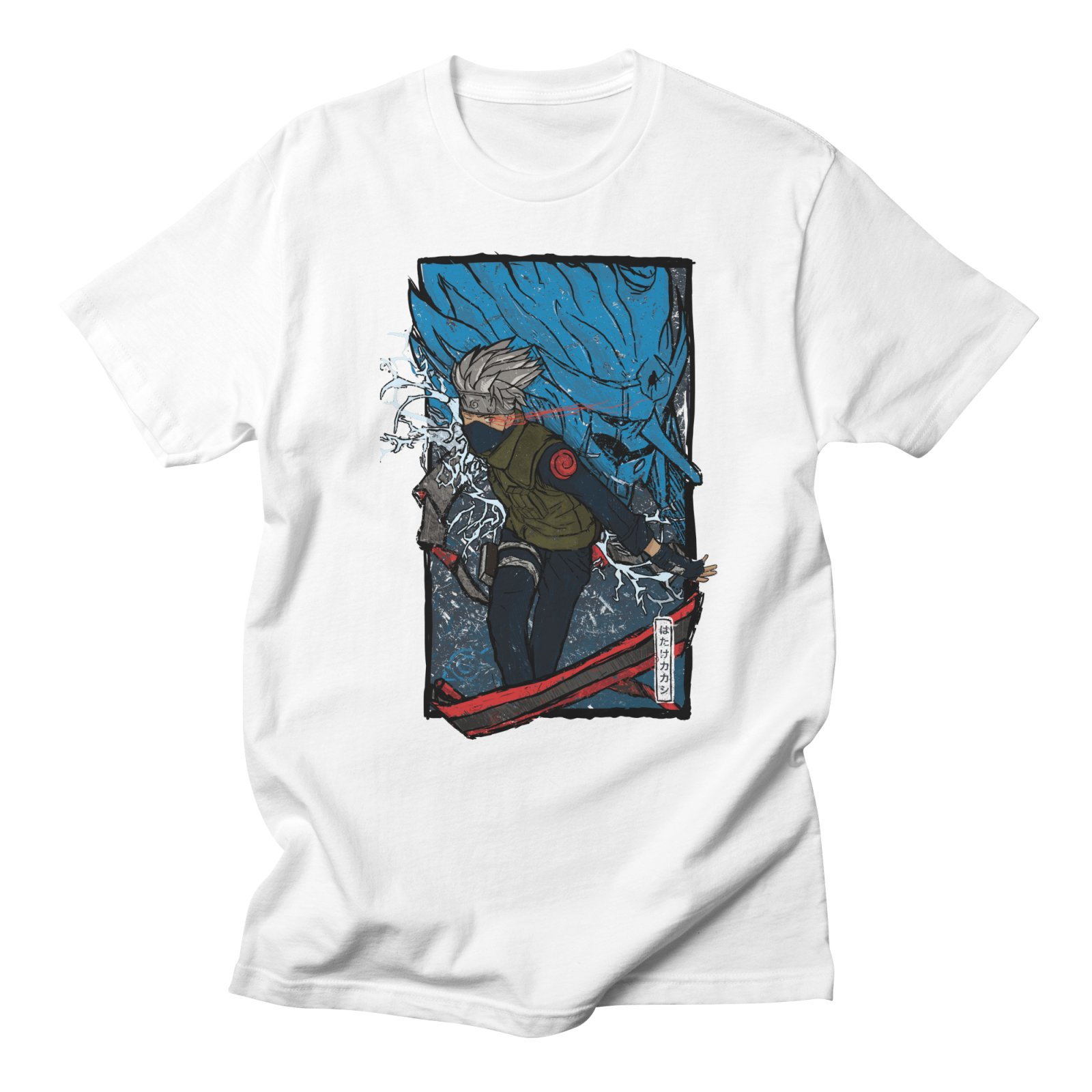 Naruto Hatake Kakashi T Shirt Men Funny Casual Fashion High Quality Streetwear Tops Summer Cool Style White T Shirt Men Cotton
