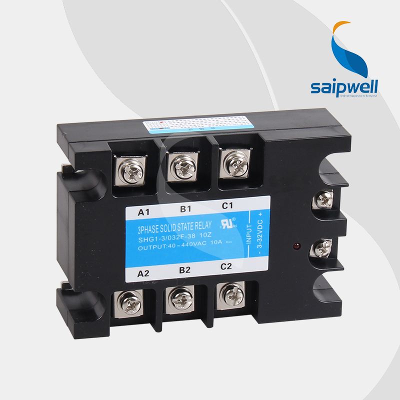 10A   3-32V DC Three-phase Relay  AC Output  SSR-DA  /AC Controllerd  Solid State Relay  (SHG1-3/032F-38 10A) normally open single phase solid state relay ssr mgr 1 d48120 120a control dc ac 24 480v