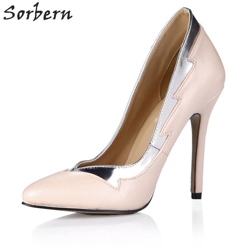 Señoras Las Custom desnuda Zapatos Punta Desnudo Sorbern En Tacones Personalizado Color Cm Bombas 12 Color Estrecha Alta De Bomba Mujer 7xgqP