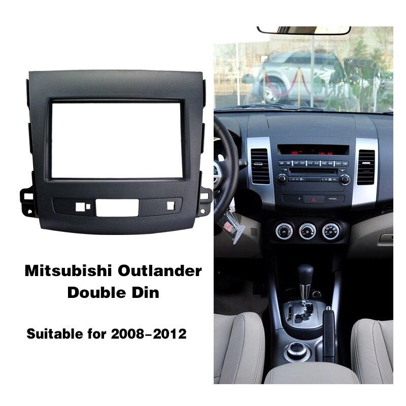 Автомобильная Мода аудио панель навигационная рамка набор для Mitsubishi Outlander 2008-2012 автомобильный DVD стерео панель Dash 2Din установка