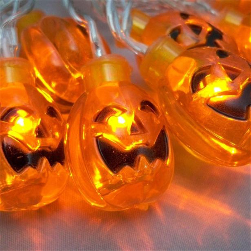 5pc pumpkin 20 led string lights halloween decoration lights warm white 72ftchina