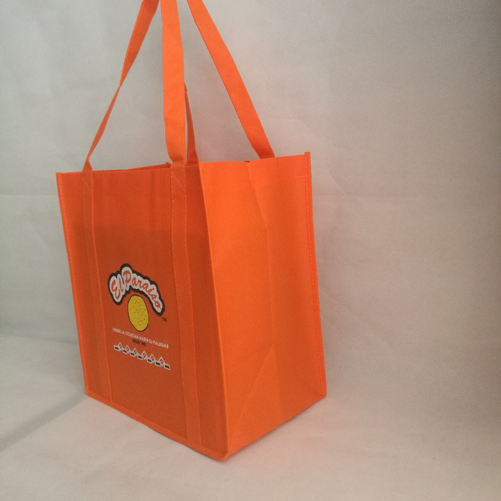 1000pcs Lot Custom size with logo printed Promotional 100g thick bags reusable grocery non woven shopping