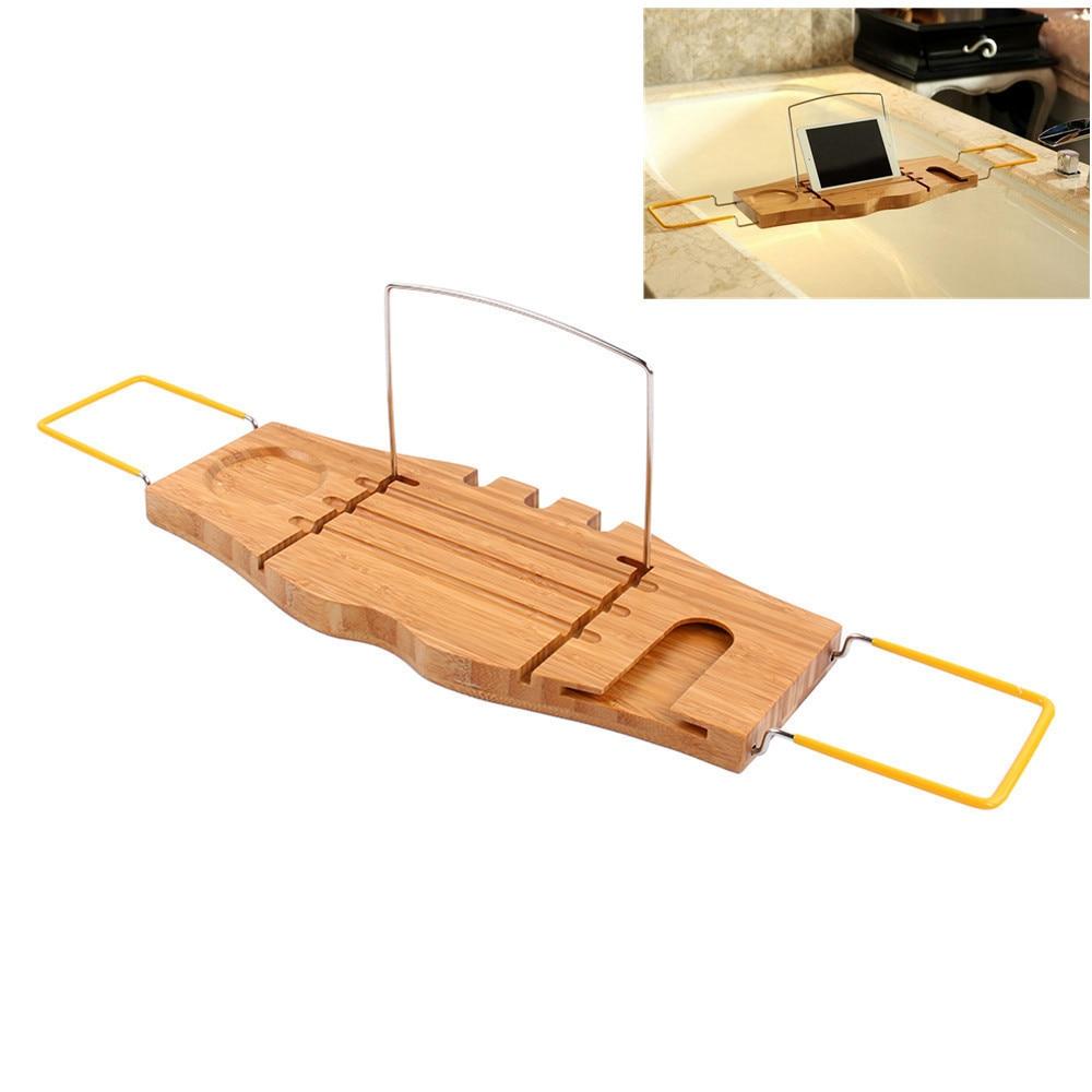 1Pcs Bathroom Storage Shelf Holder Over Bath Caddy Wooden Bathtub ...