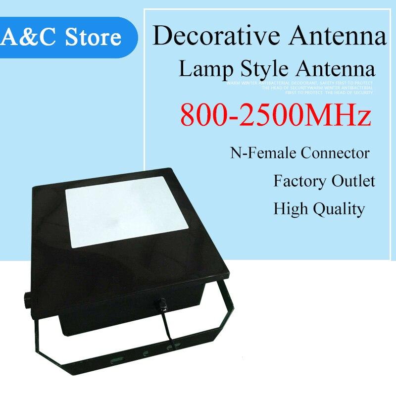 Antenne directionnelle 800 ~ 2500 MHz antenne décorative style lampe 10dbi pour antenne CDMA GSM DCS AWS WCDMA 2g 3g 4g-LTE antenne n-femelle