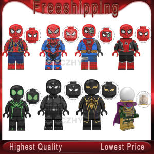 Legoed Spider Man Far From Home Figure Super Hero Mysterio Spider Man Noir Gwenom Building Blocks Bricks Toys For Child kt1027