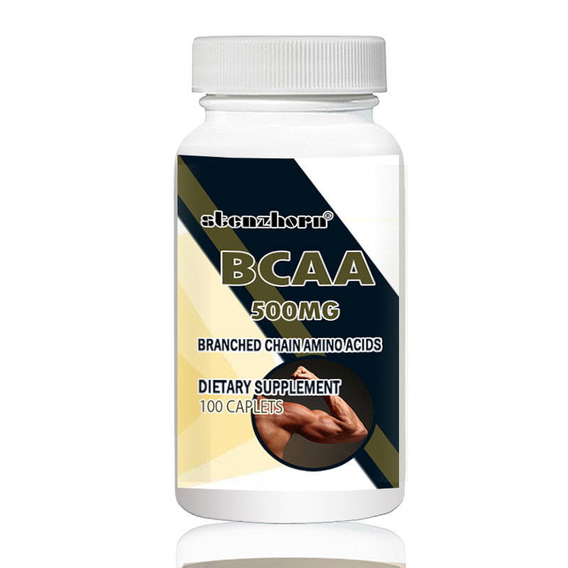BCAA   500mg  100pcs L-Leucine  L-Isoleucine  L-Valine  With Versatile Support For Training Endurance And Recovery