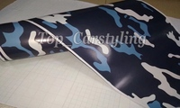 Protwraps Deep Blue White Camouflage Film Camo Wrap Vinyl Decal Truck Vinyl Graphic Decal With Bubble Free