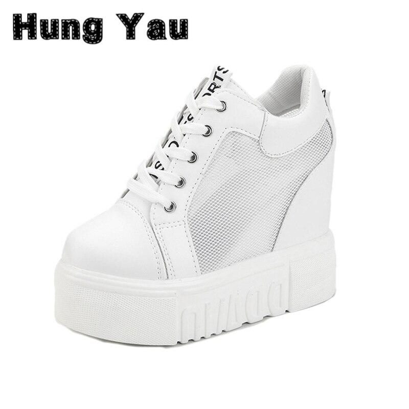 Zapatos de las cuñas de Estilo Hueco Verano Mujer Vulcanizado Zapatos de Tacón O