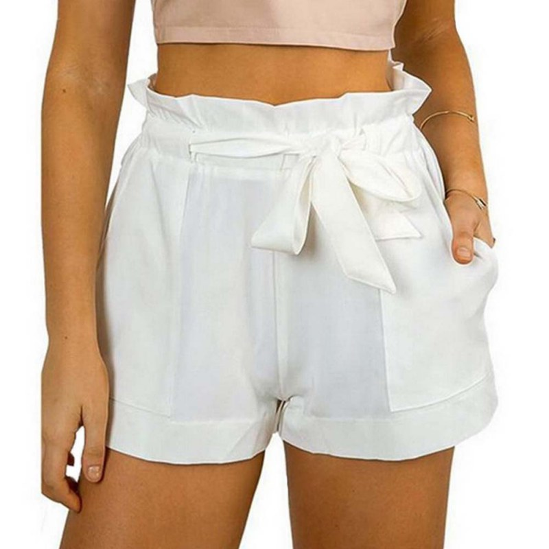 Hot Stylish Women Lady's Sexy Summer Casual Shorts High Waist Short Beach Loose Fashionable Shorts Female With Belt Pantalon