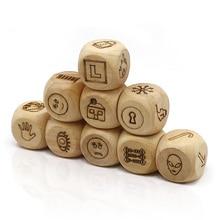 romancard geschichte würfel spiel look bild erzählen eine geschichte holzwürfel mit transparent box für familie spaß party brettspiel