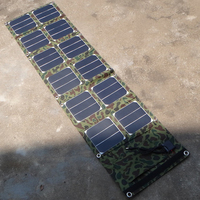 Renepv 40W foldable solar charger 12pcs panel integrated charger 5V/18V output for multi use