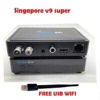 Gtmedia 2018 sta ** hub Сингапур V9 супер телеприставка с кабелями blackbox autoupdate канала PK Сингапур iptv v9 pro/мини