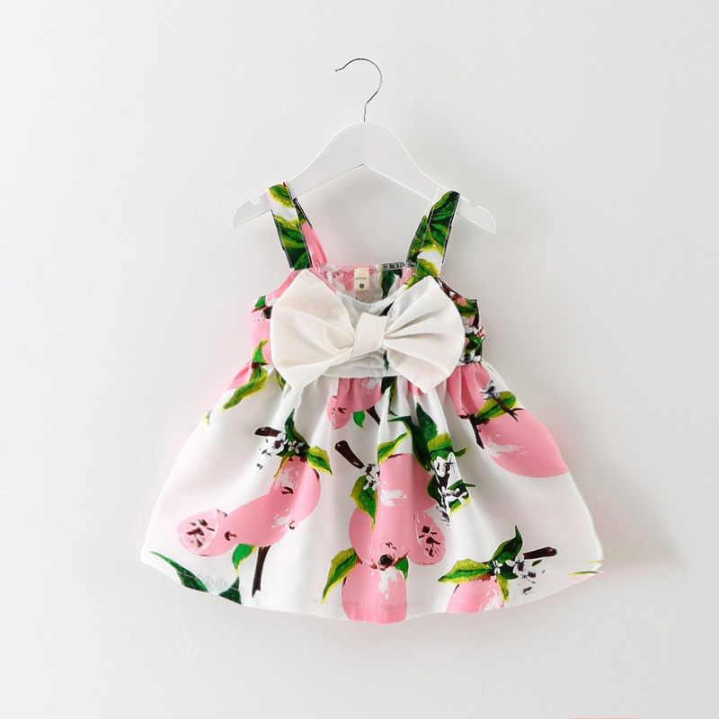 2019 sıcak satış gerçek düz yay naylon bebek tulumları çocuklar kız katı elbise Minnie Mouse kolsuz çanta Demin günlük elbiseler 1-5y