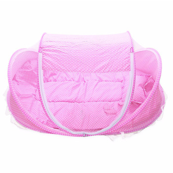 Foldable New Baby Crib 0-3 Years Baby Bed With Pillow Mat Set Portable Folding Crib With Netting Newborn Sleep Travel Bed Newest 1