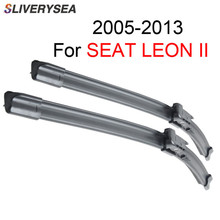 SLIVERTYSEA 26+26R Window Windshield Wiper Blade For SEAT LEON II 2005-2013 Car Accessories Auto Rubber Windscreen Wipers