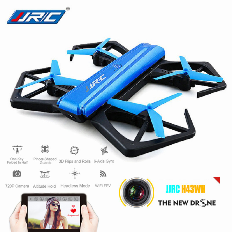 JJRC H43WH H43 Foldable Dron 6 Axis Mini Drone WIFI FPV HD Camera RC Quadcopter with Altitude Hold G-sensor RC Helicopter vs H37 jmt cg030 foldable 0 3mp camera drone wifi fpv 6 axis gyro altitude hold headless rc quadcopter mini drone app control rc dron