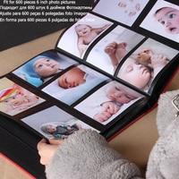 Fremdness 600 качественный кожаный фотоальбом, книга для малыша, фотоальбом с большим количеством страниц, качественный фото альбом, размер фото 6...