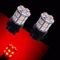 PA LED 2 stücke X 20SMD 5050 LED Für Ford 3157 Für Bremsleuchten Led-lampen farbe ROT