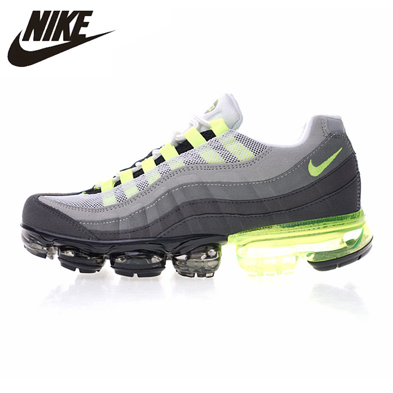 sale retailer 69f42 852a7 US $102.2 30% OFF|Aliexpress.com : Buy Nike Air Vapormax 95 OG Men's  Running Shoes , Grey & Green, Lightweight Shock absorbing Breathable Non  slip ...
