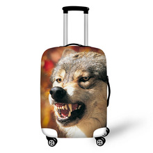 Animal Wolf Print Travel Accessories Suitcase Protective Covers 18-32 Inch Elastic Luggage Dust Cover Case Stretchable Protector