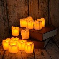 Increíble Brillante Ámbar Luz LED Sin Llama Vela Ligera de Té con Maravilloso Efecto Decorativo para Bares Restaurante