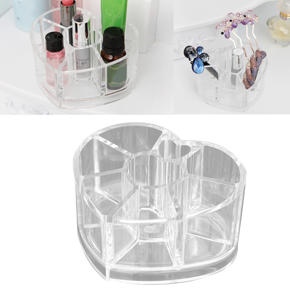 Behogar Clear Acrylic Makeup Organizer Cosmetic Storage Display Jewelry Box Make up Organiser Beauty Care Lipstick Holder ...