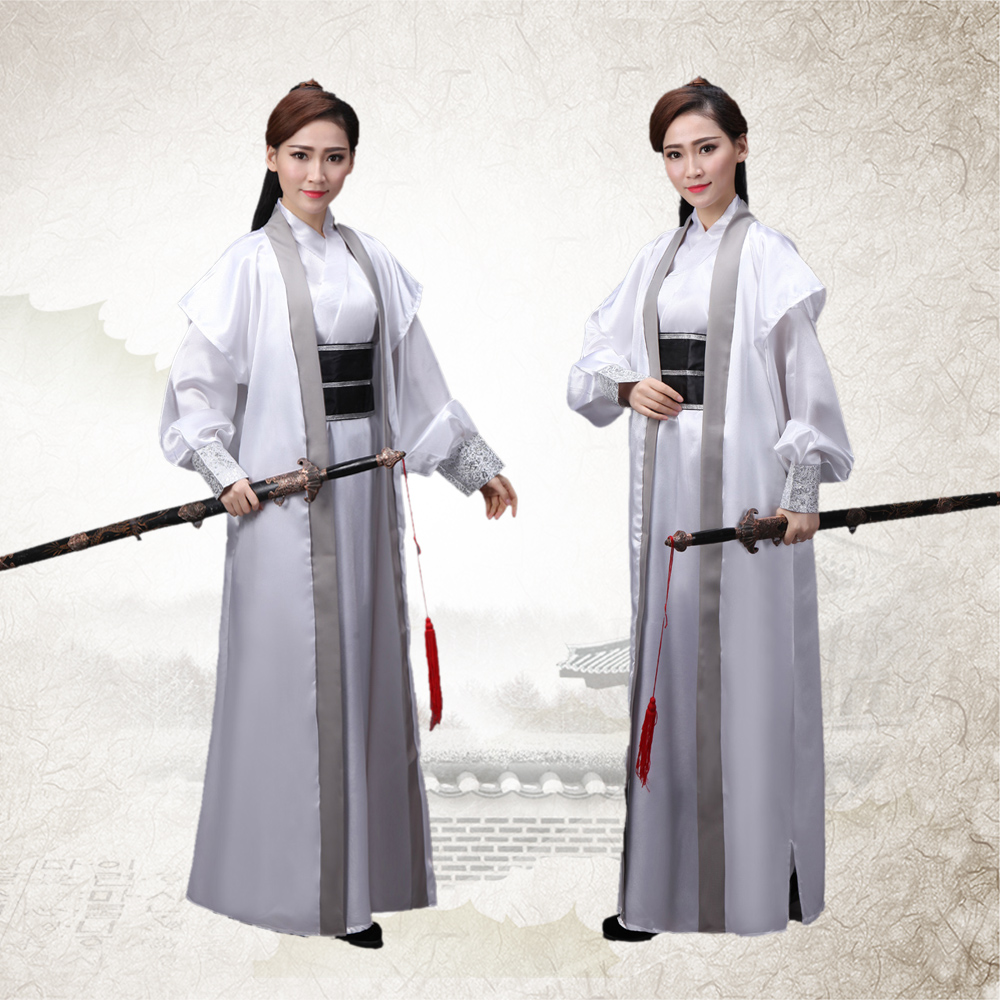 Swordsman Hanfu Costume Antique Chinois Costumes pour Hommes Dynasty Warriors Cosplay Antique Chinois Guerrier Costume(