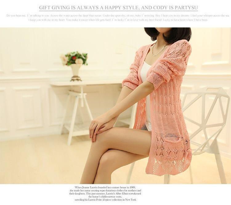 Womens Sweater Spring Jacket Loose Shawl 33