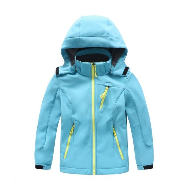 68460c4f0 Children Winter Fleece Softshell Jackets Kids Sports Coats Outdoor ...