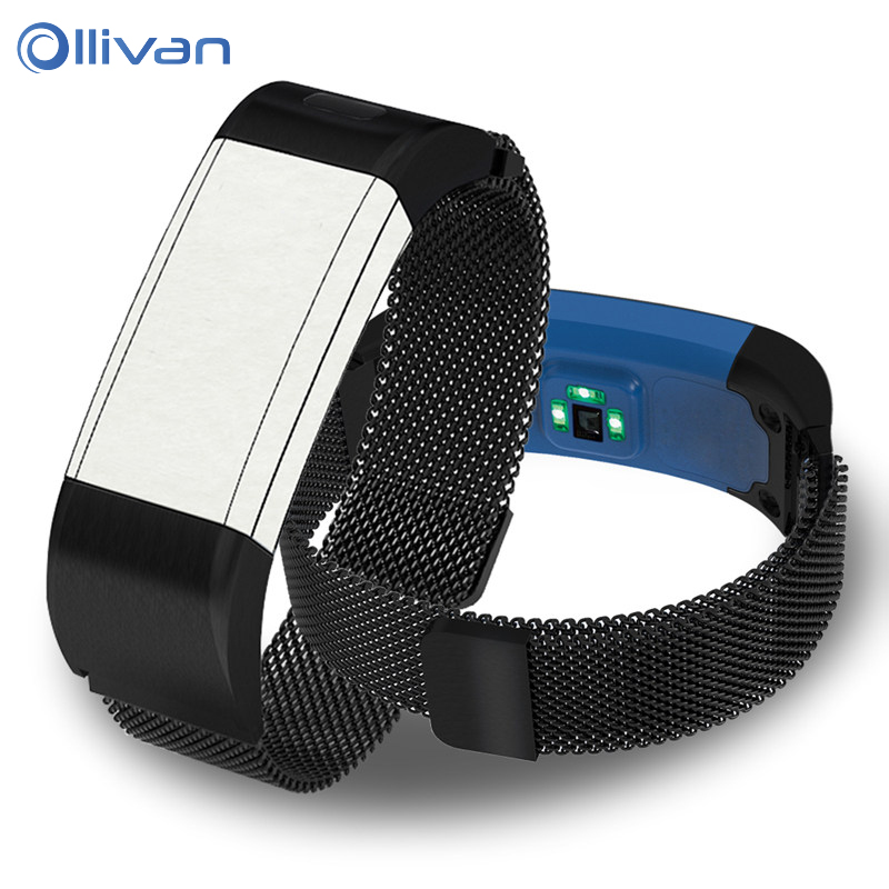 Wrist Strap for Garmin Vivosmart HR Plus Stainless Steel Magnetic Milanese Loop band for Approach <font><b>X10</b></font> X40 Smart bracelet Bands image