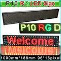 """RG P10 LEVOU Assinar display LED do painel, Semi-ao ar livre duplo cor LEVOU sinais de Publicidade, mensagem de texto de rolagem de tela H7.4 """"x W40"""""""