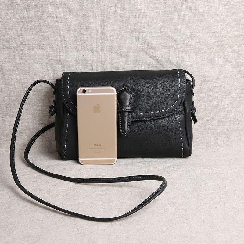 Aetoo 원래 수제 여성 가죽 핸드백 미니 가방 가죽 가죽 어깨 가방 메신저 가방 간단한-에서탑 핸드백부터 수화물 & 가방 의  그룹 3