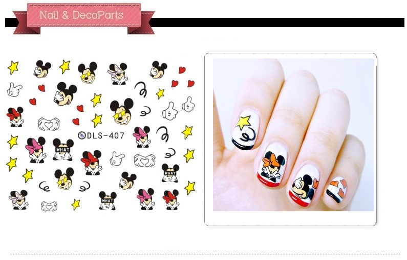 Beauty Holiday gift DLS 404-413 series nail sticker with each model need past 5pcs