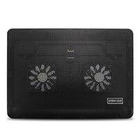 Black Notebook Cooling Pad Silent Laptop Cooler Radiator With LED Light Large Fan Cooling Base Cooler