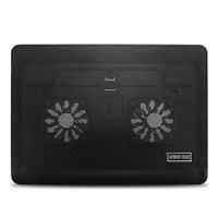 Black Notebook Cooling Pad Silent Laptop Cooler Radiator With LED Light Large Fan Cooling Base Cooler