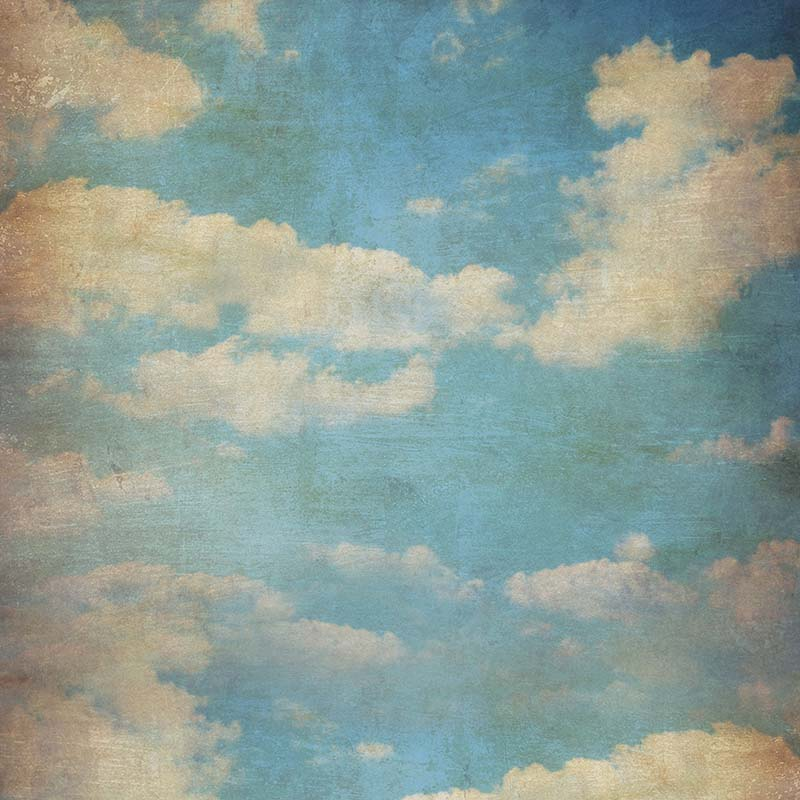 MEHOFOTO Vinyl Photography Background Blue Sky White Clouds Computed Printed Children Backdrops for Photo Studio CM-6717