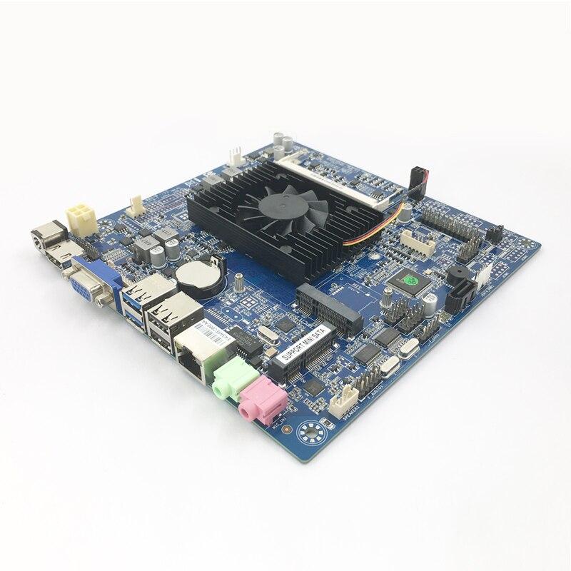Mini ITX 17x17cm Motherboard Mini Celeron N2830 2.0GHz cooling fan DDR3 Desktop Mainboard ITX Motherboard Onboard CPU PCI-E
