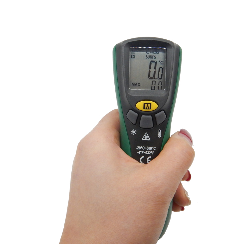 Mastech MS6522B Infrared Termometer Portable LCD Digital Thermometer 10:1(D:S) Non-contact Handheld Laser Tester Industrial-tool  цены
