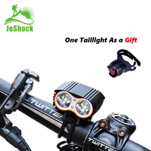 Joshock USB Bike Light LED 15000Lm Water Proof Headlight T6 Leds Cycling Lamp Lantern Flashlight With Free Tail light