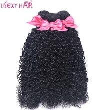 USEXY HAIR 100% Human Hair Weave Malaysian 4 Bundles Curly Hair Bundles Non Remy Hair Weaves Natural Color 8-28 inch No Tangle