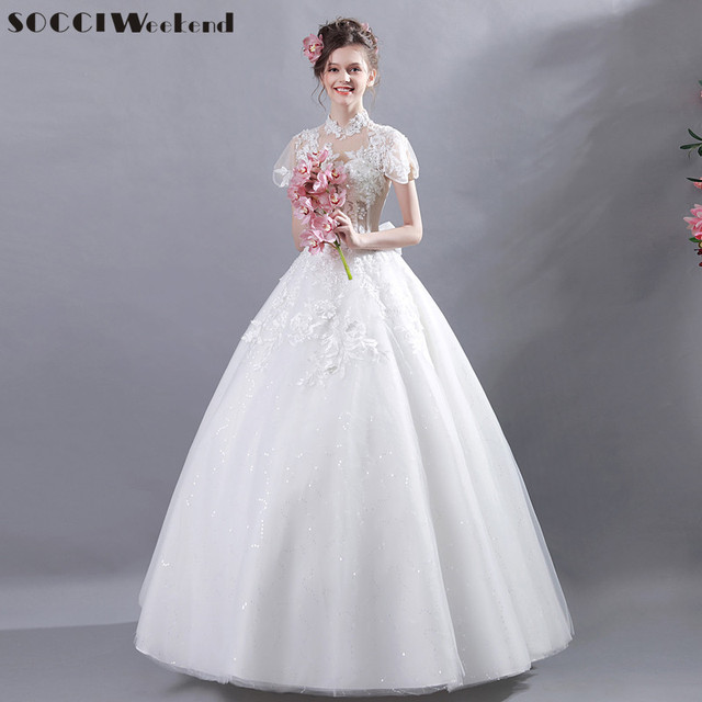 SOCCI Weekend French Elegant Princess Wedding Dresses 2017 Appliques ...