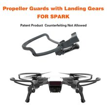 For DJI SPARK Propeller Guards Protectors Shielding Rings with Landing Gears Stabilizers Drone Accessories Kit Dropshipping(China)
