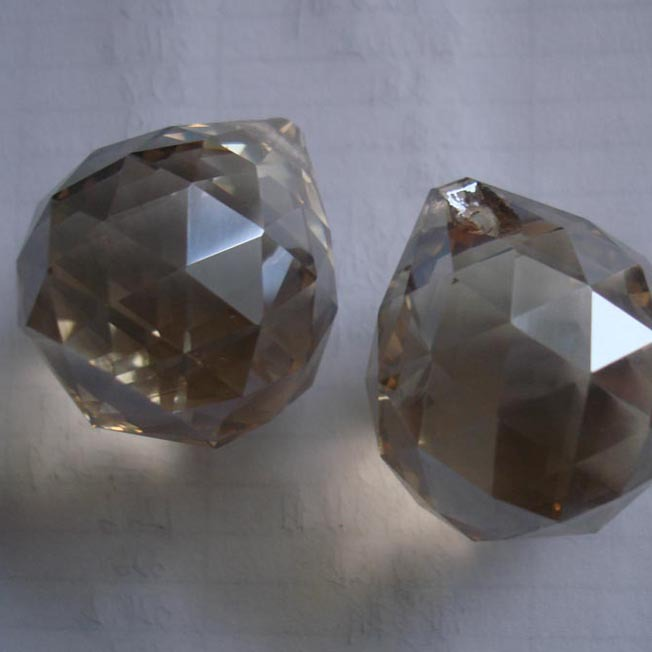 260pcs/lot 20mm cognac crystal faceted ball glass prism part pendant free shipping