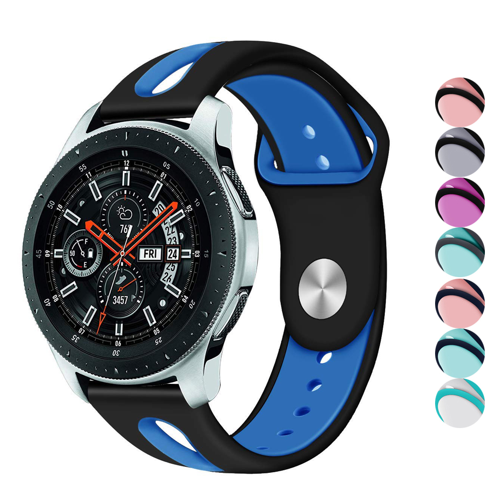CRESTED Silicone watch strap For Samsung Gear S3 Frontier/Classic band 22mm wrist bracelet soft Rubber R770/R760 Watchband dahase sport soft silicone strap for samsung s3 classic r770 band 22mm bracelet for gear s3 frontier r760 watch band with pins