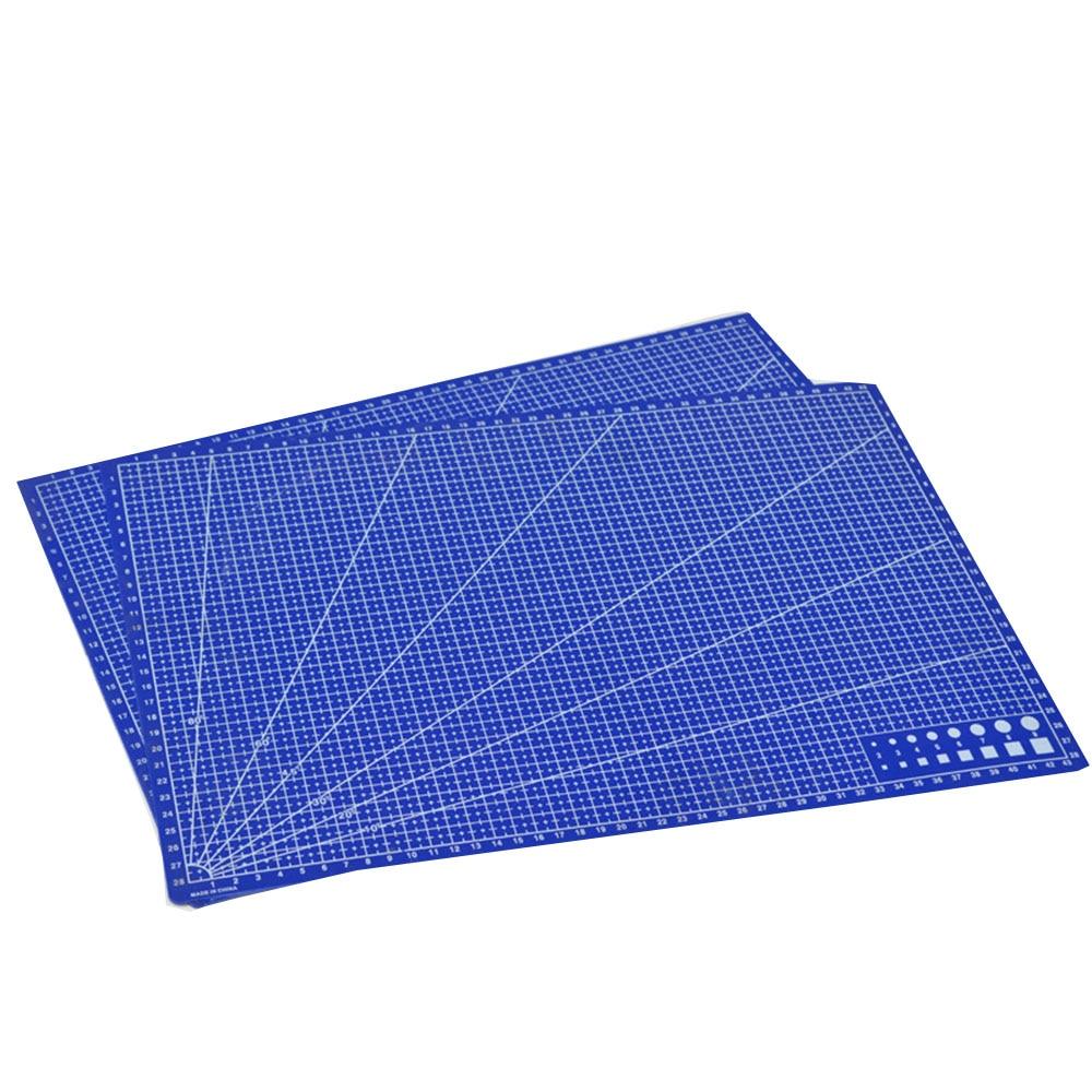 1 Pc A3 Pvc Rectangle Grid Lines Cutting Mat Tool Plastic Craft Diy Tools 45cm * 30cm