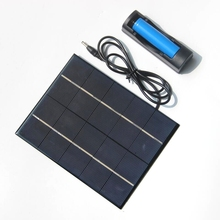 UHESHUI 3.5W Solar Panel With DC Output Base For 18650 Battery Solar Cell For 18650 Rechargeable Battery Charging Directly Epoxy