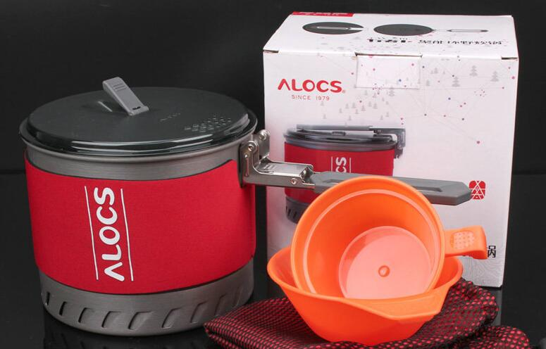 Acampar al aire libre senderismo cooking set utensilios de cocina 1.3l-2l olla c