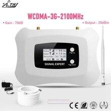 Display LCD! Mini smart 2100 mhz 3g amplificador de telefone celular 3g repetidor umts 3g amplificador de sinal celular kit para 3g