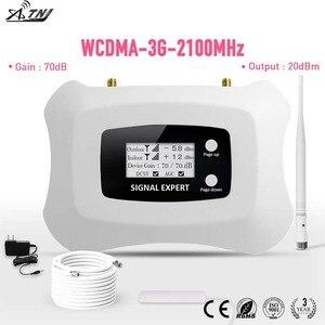 Image 1 - ¡Pantalla LCD! Mini amplificador de teléfono móvil inteligente 3G, 2100 MHz, repetidor 3G, UMTS, kit de amplificador de Amplificador de señal móvil 3G para 3G